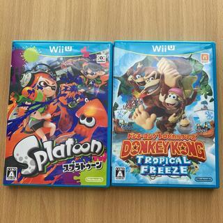 任天堂 - ドンキーコング トロピカルフリーズ Wii U スプラトゥーン WiiU セット