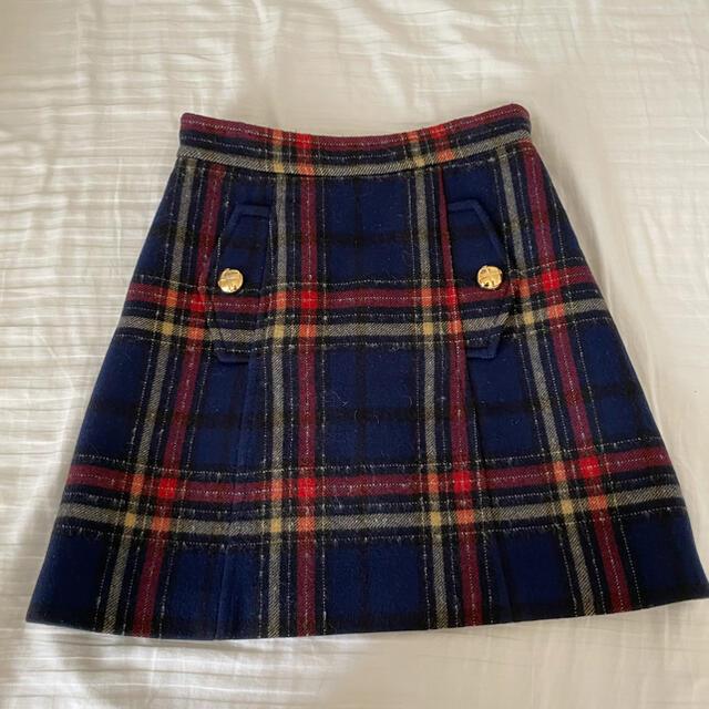 miumiu(ミュウミュウ)のmiumiu バージンウールスカート 38サイズ レディースのスカート(ミニスカート)の商品写真