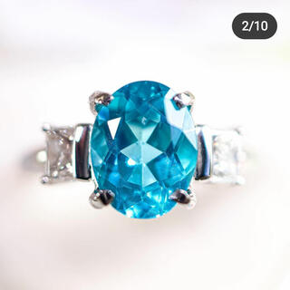 アパタイトとダイアモンドのリング