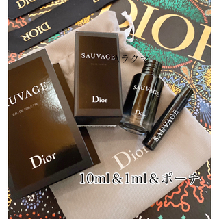 Dior - 新品Dior ソバージュ10ml&1ml &巾着ポーチ 3点セット
