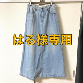 ジーユー(GU)のデニム ロングスカート サイズL(ロングスカート)