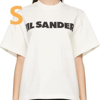 ジルサンダー(Jil Sander)のJIL SANDER オフホワイト ロゴ T-シャツ S(Tシャツ(半袖/袖なし))