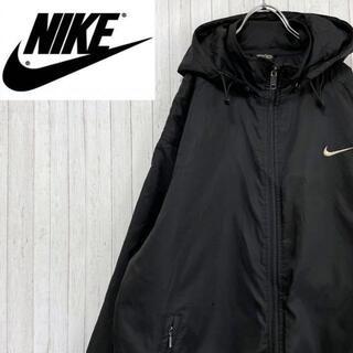 NIKE - NIKE ナイキ 中綿 ナイロンジャケット 黒 刺繍ロゴ ビッグロゴ S
