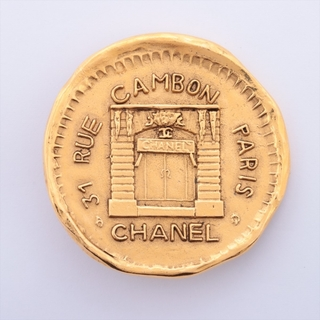 シャネル(CHANEL)のシャネル カンボン GP  ゴールド レディース ブローチ(コサージュ/ブローチ)