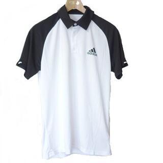 アディダス(adidas)の新品◆(L)アディダス adidas 白×黒クラブポロシャツ(ポロシャツ)