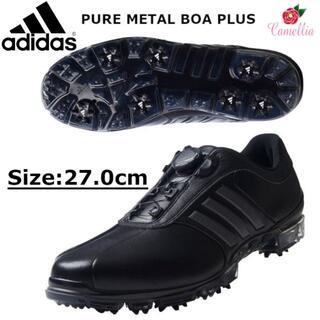 アディダス(adidas)の新品 アディダス ダイヤル式 ゴルフシューズ メンズ BK 27.0cm(シューズ)