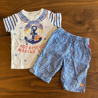 mikihouse - ミキハウス ホットビスケッツ  Tシャツ&ズボンセット