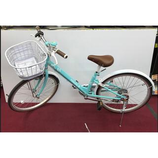 美品 子供 自転車 22インチ 玉越工業 MAHALO パステルグリーン(自転車)