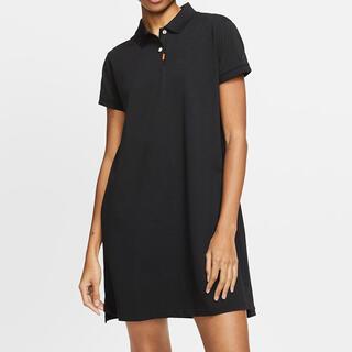 ナイキ(NIKE)のナイキ ポロ ワンピース ゴルフ Mサイズ ポロシャツ ドレス(ミニワンピース)