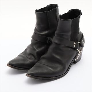 celine - セリーヌ  レザー 41 ブラック メンズ ブーツ