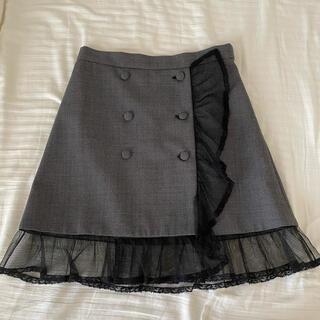miumiu - 【美品】miumiu 千鳥チュールスカート 38サイズ