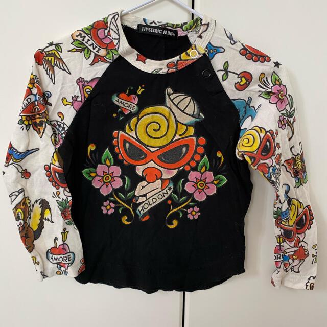 HYSTERIC MINI(ヒステリックミニ)のHYS💗ラグランロンT キッズ/ベビー/マタニティのキッズ服女の子用(90cm~)(Tシャツ/カットソー)の商品写真