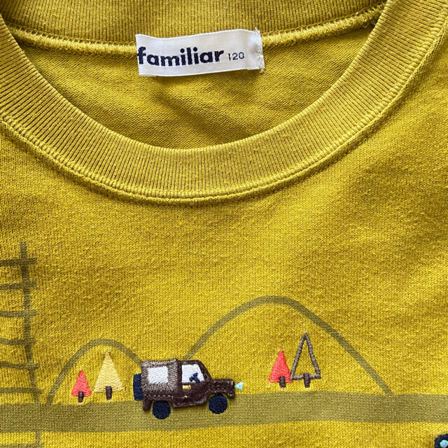 familiar(ファミリア)のfamiliar ♡ ファミリア 長袖 Tシャツ カットソー 車 男の子 キッズ/ベビー/マタニティのキッズ服男の子用(90cm~)(Tシャツ/カットソー)の商品写真