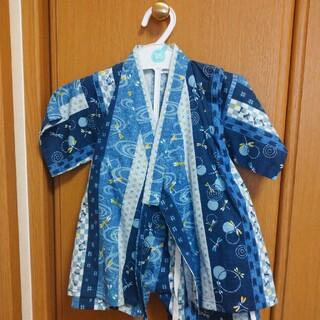 ニシマツヤ(西松屋)のトンボ柄甚平 95センチ(甚平/浴衣)