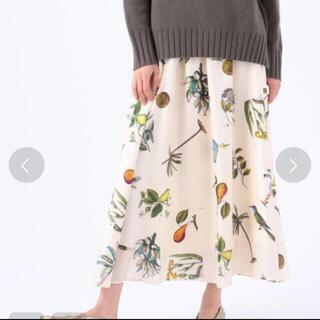 TOMORROWLAND - caban ボタニカルシルクスカート