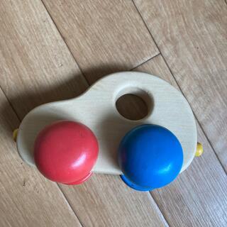 木のおもちゃ(手押し車/カタカタ)