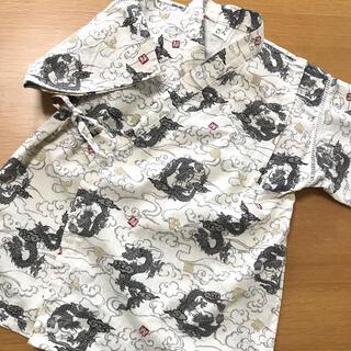 キッズ 甚平 サイズ130 和柄 龍(甚平/浴衣)