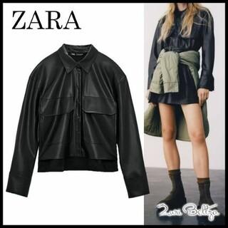 ザラ(ZARA)のZARA レザー風シャツジャケット(その他)