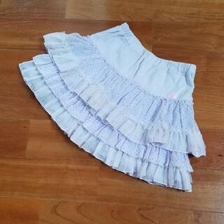 mezzo piano - 値下げ♡美品♡メゾピアノのインナーパンツ付きスカート  140