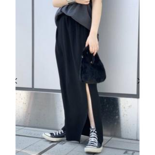 L'Appartement DEUXIEME CLASSE - 美品!AP STUDIO ウエストゴムマキシスカート ブラック