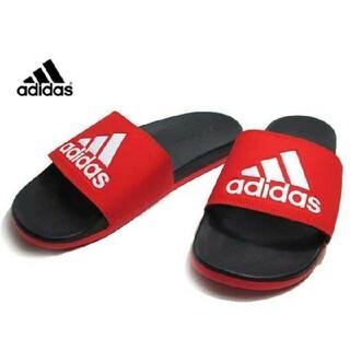 adidas - 新品 送料込み アディダス 赤 アディレッタ 28.5センチ レッド サンダル
