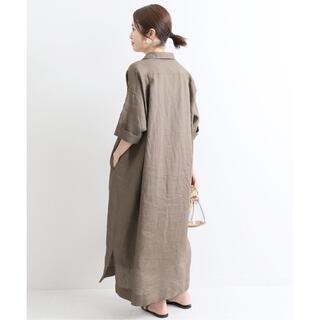 IENA - 【美品】 イエナ リネンオーバーサイズシャツワンピース 定価17600円