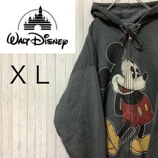 ディズニー(Disney)のディズニー ヘインズ パーカー スウェット ビッグサイズ ビッグプリント XL(パーカー)