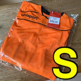 ウールシュポルト(uhlsport)の【新品】S ゴールキーパー シャツ オレンジ(ウェア)