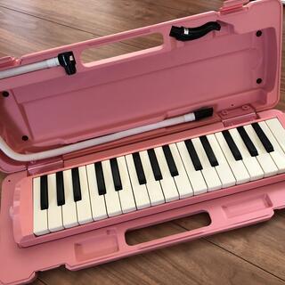 ヤマハ(ヤマハ)のYAMAHA 鍵盤ハーモニカ ピンク色(ハーモニカ/ブルースハープ)