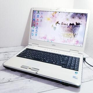 富士通 - 綺麗なツヤホワイト☆すぐ使える♪初心者さんに♪容量たっぷり500GB☆