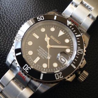 セイコー(SEIKO)のSEIKO NH35 搭載 MOD カスタム ブラック(腕時計(アナログ))