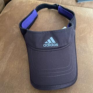 アディダス(adidas)の美品‼️adidas サンバイザー 帽子 キャップ(サンバイザー)