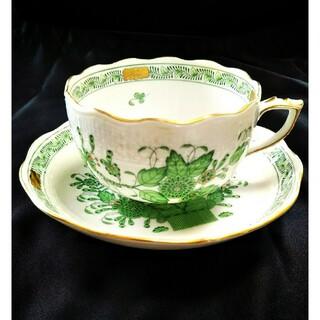 ヘレンド(Herend)のHEREND ヘレンド インドの華 ティーカップ&ソーサー(食器)