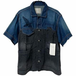 sacai - R304-200)sacai Dr.woo 19ss タトゥー デニムシャツ 1