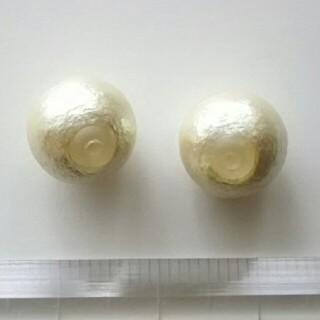 キワセイサクジョ(貴和製作所)のコットンパールキャッチ キスカ色 1cm(ピアス)