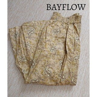 BAYFLOW - 美品 BAYFLOW ベイフロー  ラップ ボタニカルロングスカート