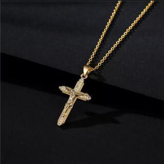 ネックレス 十字架 クロス キリスト 宗教 マリア ゴールド