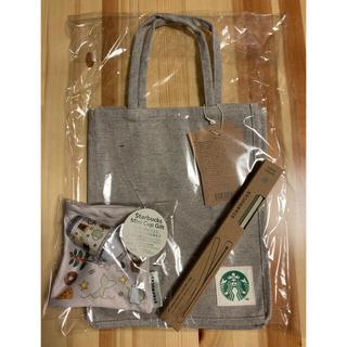 スターバックスコーヒー(Starbucks Coffee)のスターバックス コットンショッパー&ストロー&ミニカップギフト(その他)