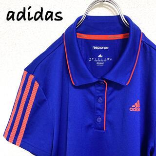 アディダス(adidas)のアディダス adidas トップス スポーツウエア ポロシャツ ゴルフ 青(ウエア)
