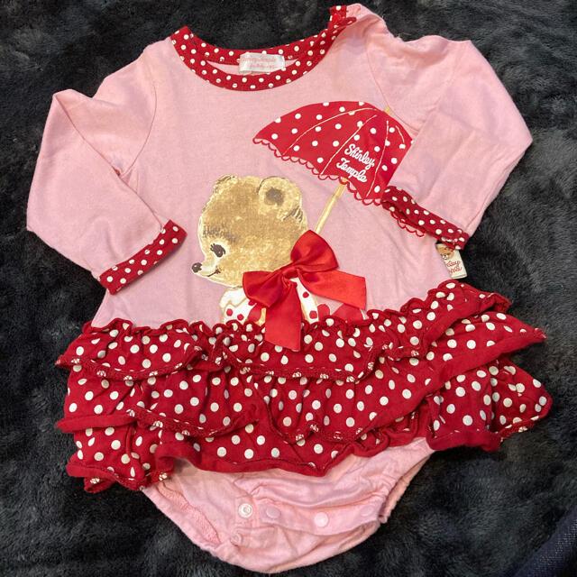 Shirley Temple(シャーリーテンプル)の週末値下 シャーリーテンプル80センチ ロンパース キッズ/ベビー/マタニティのベビー服(~85cm)(ロンパース)の商品写真