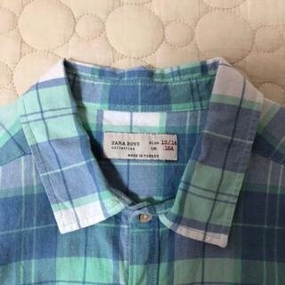 ザラ(ZARA)のzara boys チェックシャツ(164)(ブラウス)