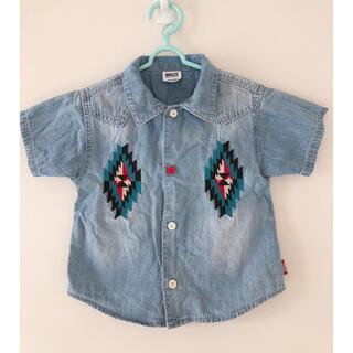 BREEZE - 【美品】BREEZE 刺繍入りデニムシャツ サイズ100