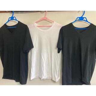UNIQLO - ユニクロ Tシャツ 3枚セット 綿とポリエステル製 メンズシャツ インナーシャツ