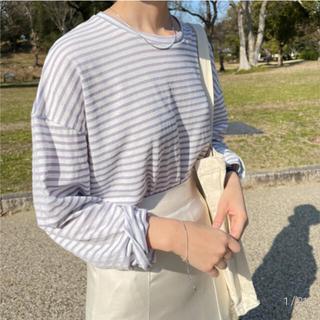 ディーホリック(dholic)のnugu パステルストライプT(Tシャツ(半袖/袖なし))