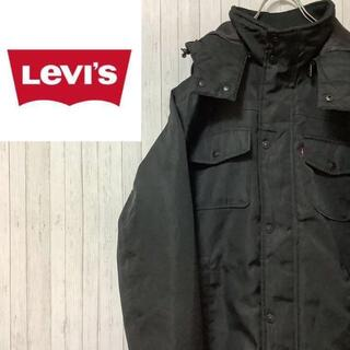 Levi's - リーバイス 中綿 ジップアップジャケット キルティングライナー 黒 パーカー L