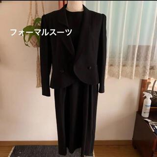 ブラック フォーマル スーツ 黒 11号 日本製(礼服/喪服)