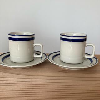 アラビア(ARABIA)の北欧 ヴィンテージ食器 アンバーガラス カップ 昭和 レトロ(食器)