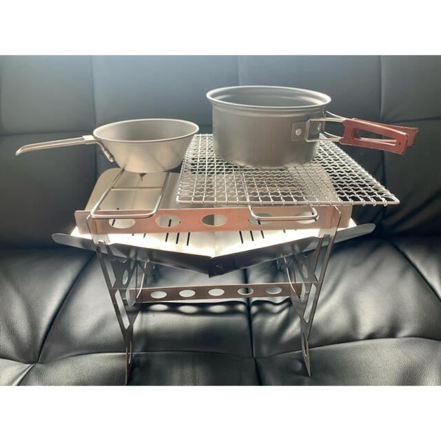 焚き火台 組み立て式 焚火台 バーベキューコンロ コンパクト軽量 焼き網付き! スポーツ/アウトドアのアウトドア(ストーブ/コンロ)の商品写真