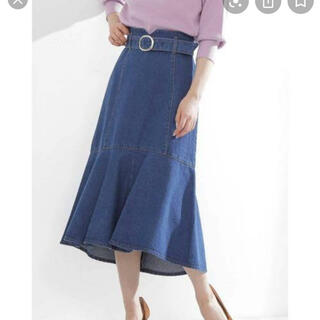 PROPORTION BODY DRESSING - マーメイドミモレデニムスカート