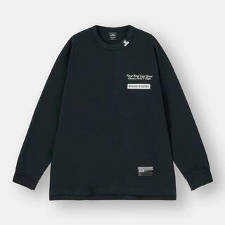 ジーユー(GU)のGU  ジーユー ミハラヤスヒロ コラボ ビッグT(長袖)MY +E ブラック (Tシャツ/カットソー(七分/長袖))